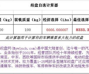 Mywinch.com发布绞盘自选计算器