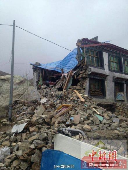 尼泊尔8.1级地震 西藏聂拉木县有房屋倒塌
