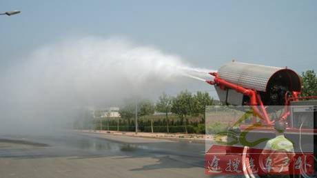 图5俄罗斯涡喷消防车喷射的是散状水雾