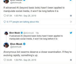 马斯克:高级AI将操纵社交媒体,或引发第三次世界大战